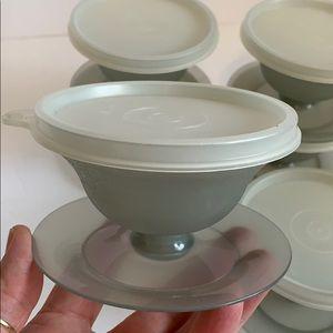 Vintage Tupperware dessert bowls